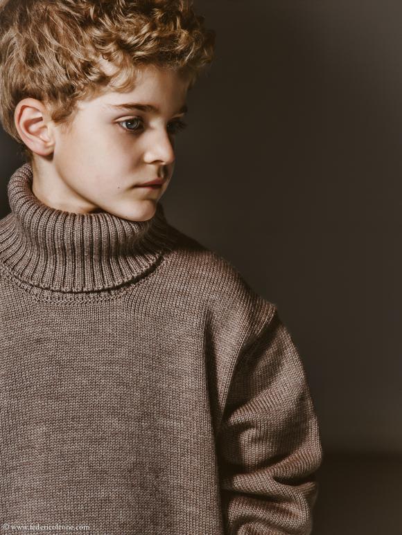 Kids fashion studio photoshoot with Giorgia and Federico by Federico Leone